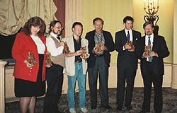 1990 Bram Stoker award winners - Nancy A. Collins, Kim Newman, Stephen Jones, Robert Bloch, Robert R. McCammon, Dan Simmons